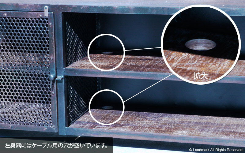 industrial furniture rustic tv board 詳細