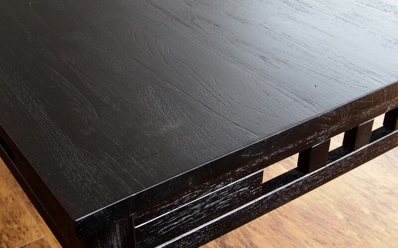 天然木アジアンダイニングテーブル エイジング加工