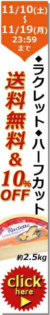 【4周年記念祭◆限定SALE】送料無料 スイス ラクレット ハーフカット 約2.5kg
