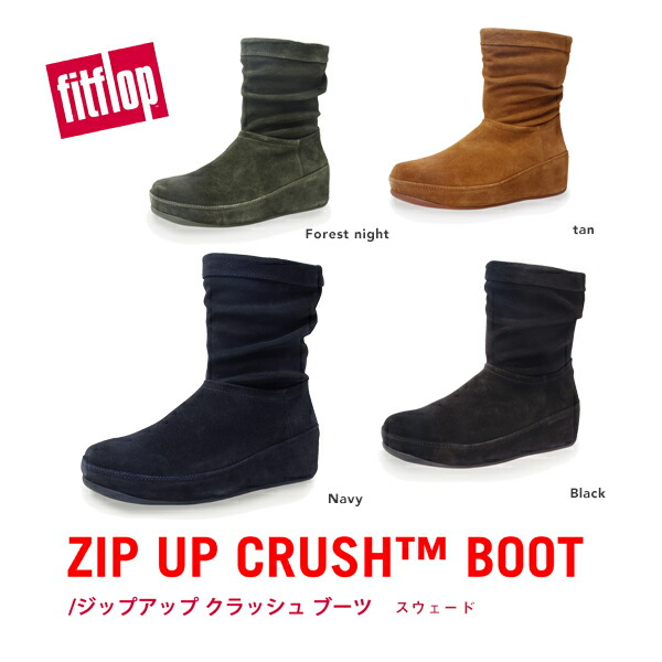 Fitflop Boots Womens - Fitflop Zip Up Crush Navy
