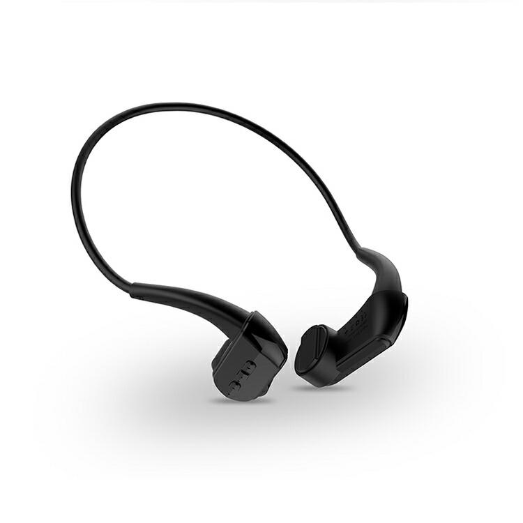 耳を塞がずに音楽を楽しむことができる骨伝導ヘッドホン