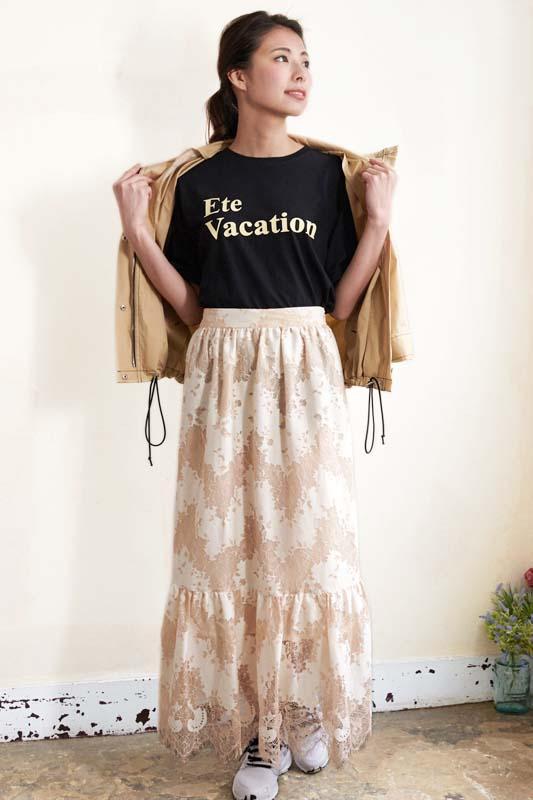 レディースファッション LASTNOTEのロゴTシャツ 楽天市場