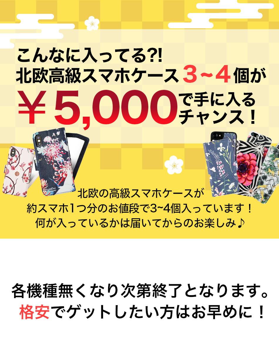 スマホ福袋超豪華15000円相当の北欧ブランドのスマホケースを4000円で手にするチャンス iPhone Xs Max XR iPhoneX iPhone8 iPhone7 iPhone6s iPhone SE Plusケース