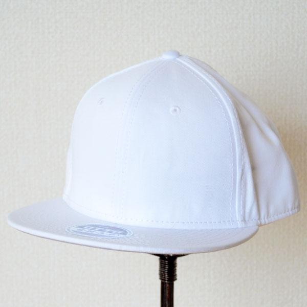 帽子/キャップ(フラットバイザー/コットン) オットー Otto 無地(ホワイト) *メール便不可