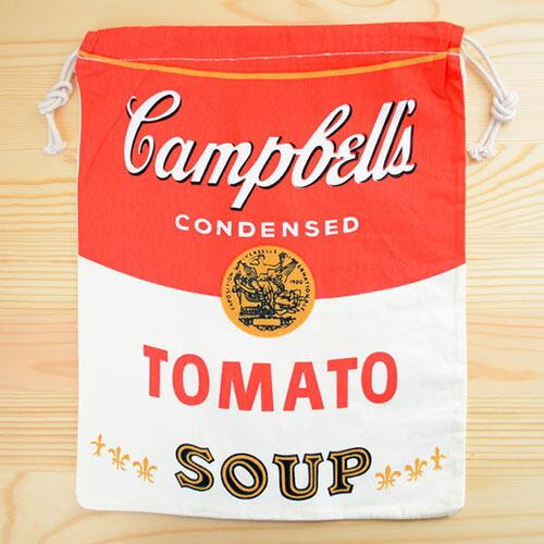 アメリカンロゴ巾着袋(L) キャンベルトマトスープ Campbell's LJK-L021