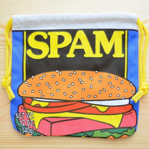 アメリカンロゴ巾着袋(S) スパム Spam LJK-S009