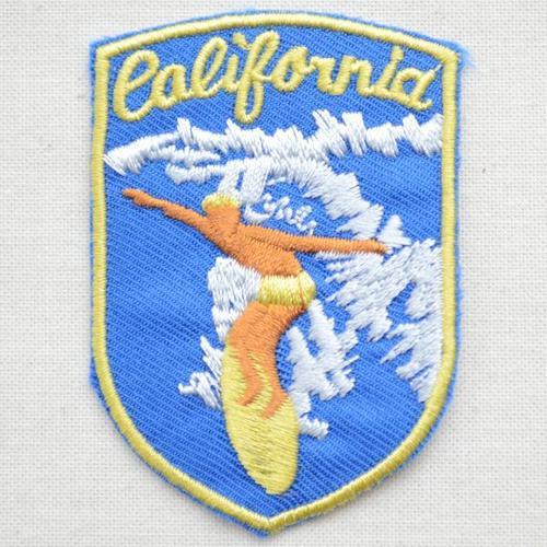 ワッペン カリフォルニアサーファー(ブルー) MTW-050