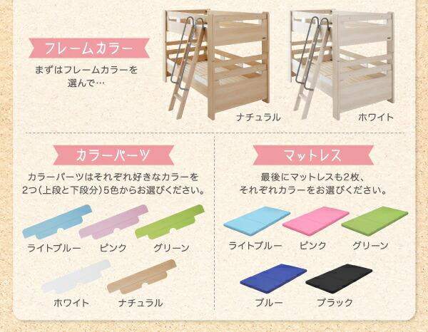 楽天市場】兄弟で色を選べる二段ベッド【いろと】イロト【カラー