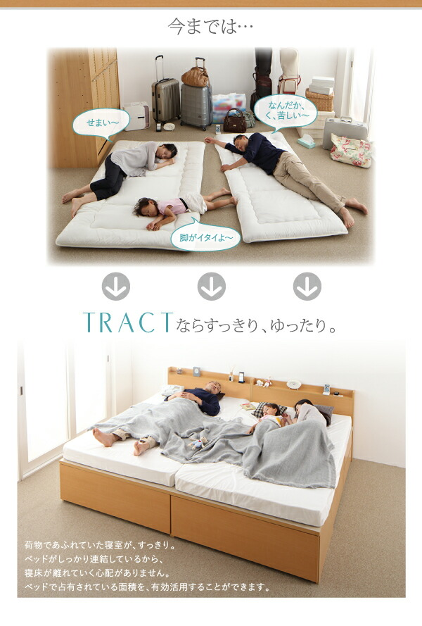 大容量収納ファミリーチェストベッド TRACT トラクト マルチラスマットレス付き B+C 組立設置 ワイドK200 日本製 収納ベッド (シングル+シングル) ベット 収納付き 木製 国産 引き出し付き 棚付き コンセント付き 大型 広い 夫婦() 大容量収納ファミリーチェストベッド TRACT トラクト マルチラスマットレス付き B+C 組立設置 ワイドK200 日本製 収納ベッド (シングル+シングル) ベット 収納付き 木製 国産 引き出 ソファ カウチソファ ダイニングセット