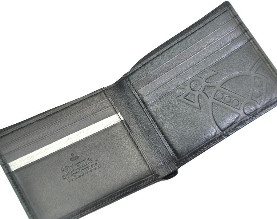 bb83a58ed588 ウエストウッド モナクVWK 羊革 二つ折り財布です。 素 材 羊革 カラー クロ サイズ 11.5cm×9cm 仕 様  札入れ×2、カード入れ×8、ポケット×3