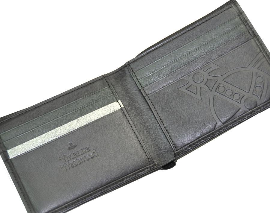 4b18a379b4e1 Vivienne Westwood ヴィヴィアン?ウエストウッド モナクVWK 羊革 二つ折り財布です。