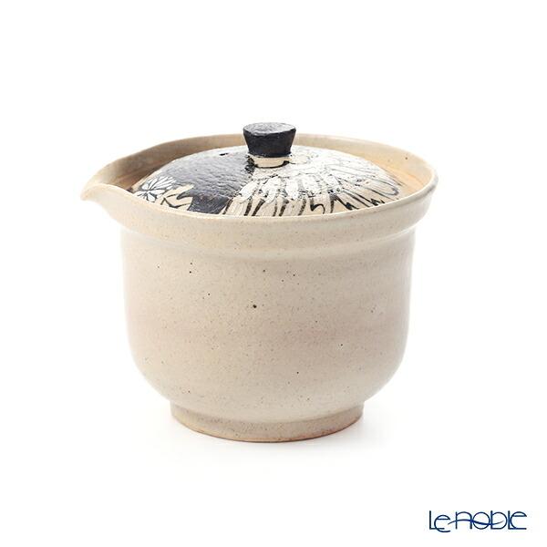 京焼・清水焼 ティーポット(宝瓶) M0299 金銀彩鶴花 250ml