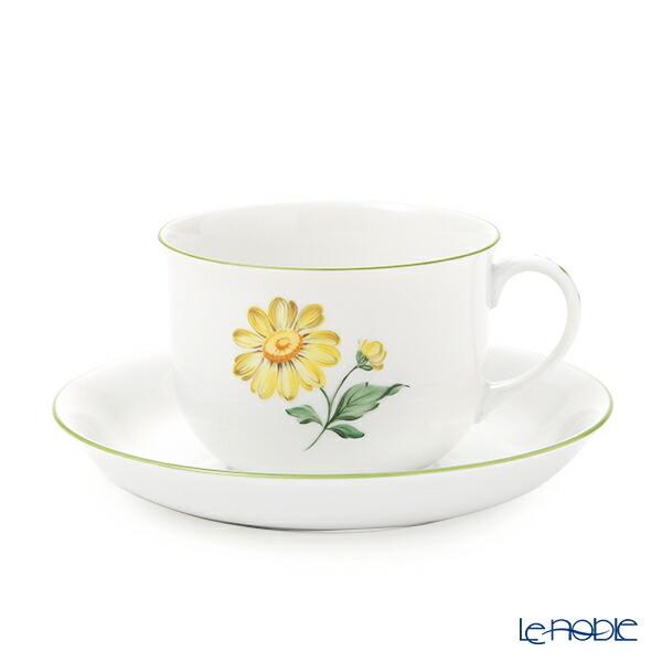 アウガルテン(AUGARTEN) ウィンナーフラワー (5089J) デイジー イエロー コーヒーカップ&ソーサー 200ml(001シューベルトシェイプ)