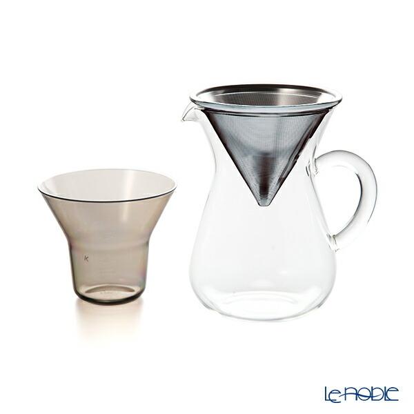キントー SLOW COFFEE STYLE 27620 コーヒーカラフェセット 600ml ステンレスフィルター 1〜2人用 耐熱ガラス製