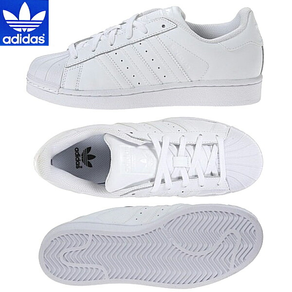 huge selection of 8cd60 50df7 Adidas Superstar 1 White Mono Foundation Unisex Sports