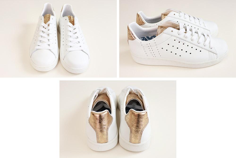 QUEBEC+MP ホワイト/ゴールド スニーカー