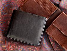 鹿革折財布