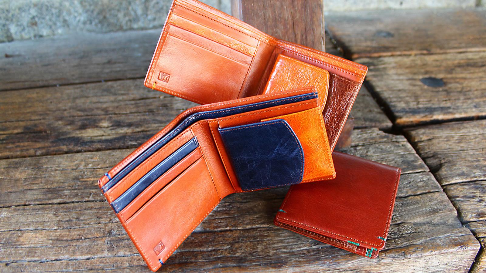 イタリア革 折財布