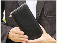 オイルレザー 長財布