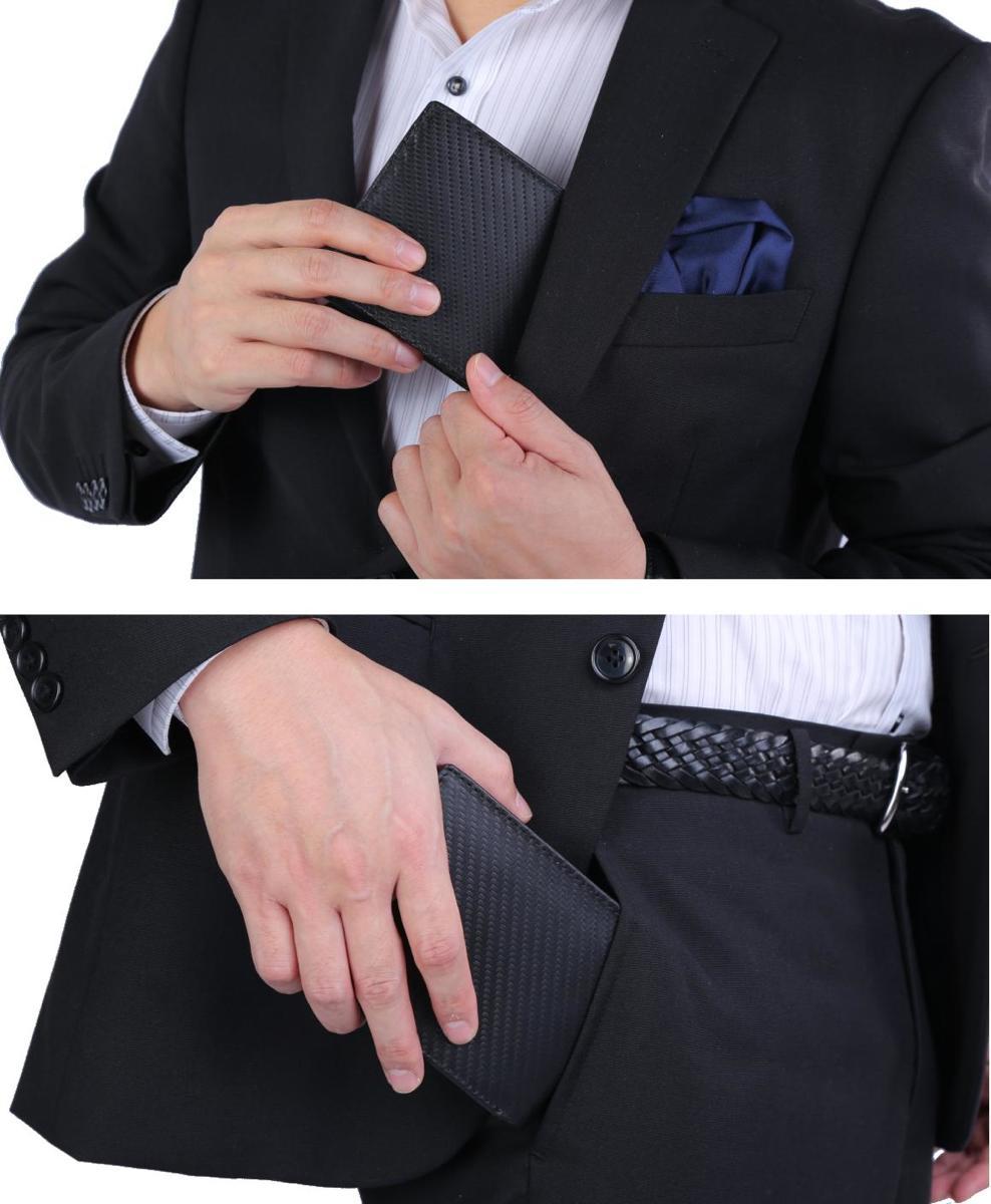 大容量で使いやすいにこだわりの二つ折り財布。