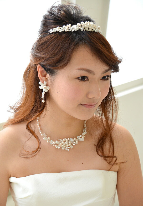 ブライダルアクセサリー【ネックレス&イヤリング】 セルジュ