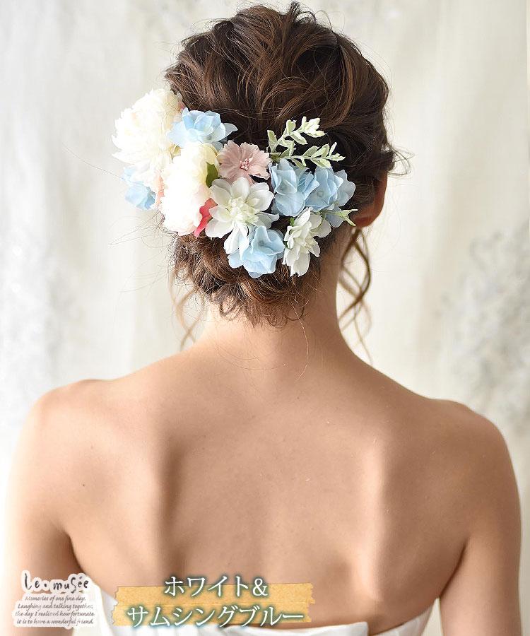 ヘッドドレス 花 ウェディング ジュディ 全4色