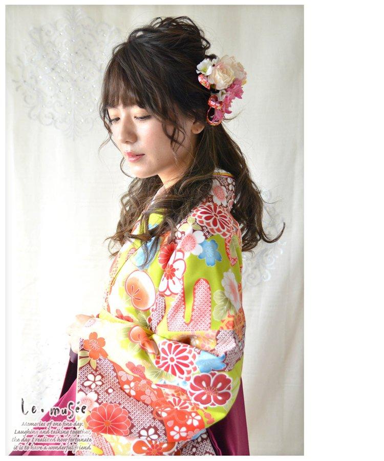 ヘッドドレス成人式 髪飾り【瑠璃 るり】小春シリーズ