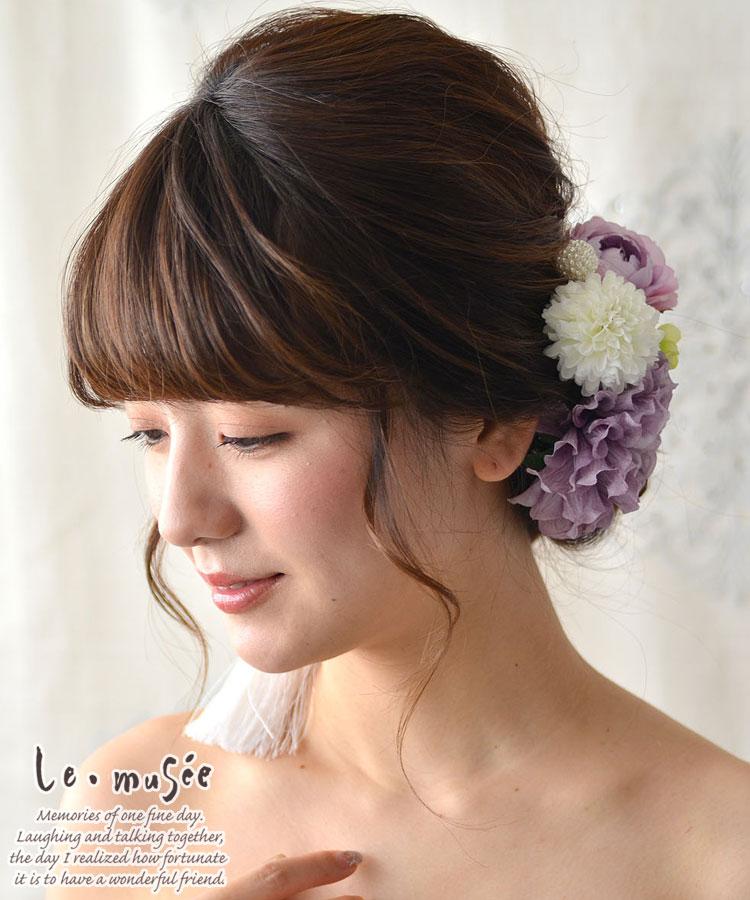 髪飾り【花】藤手毬・ふじてまり