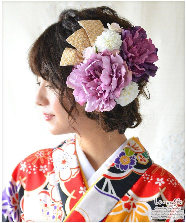 髪飾り【花】金芍薬