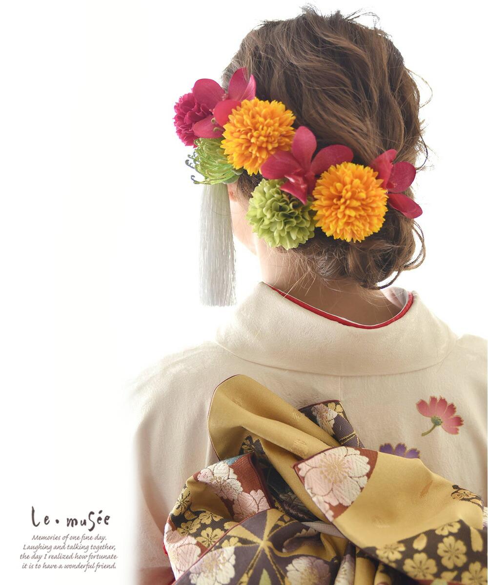 和装 髪飾り 造花 輪舞曲 ロンド