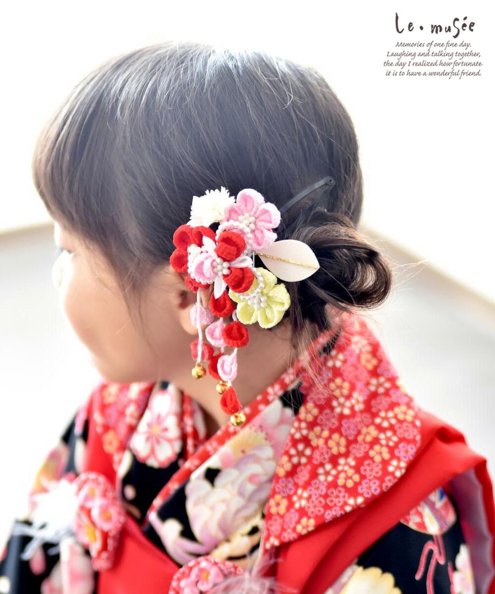 七五三髪飾り パールフラワー