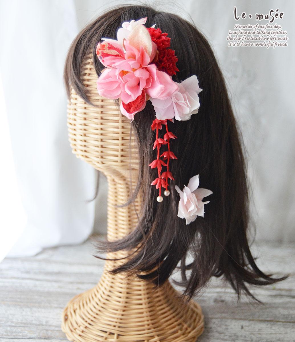 七五三髪飾り 和柄ダリア