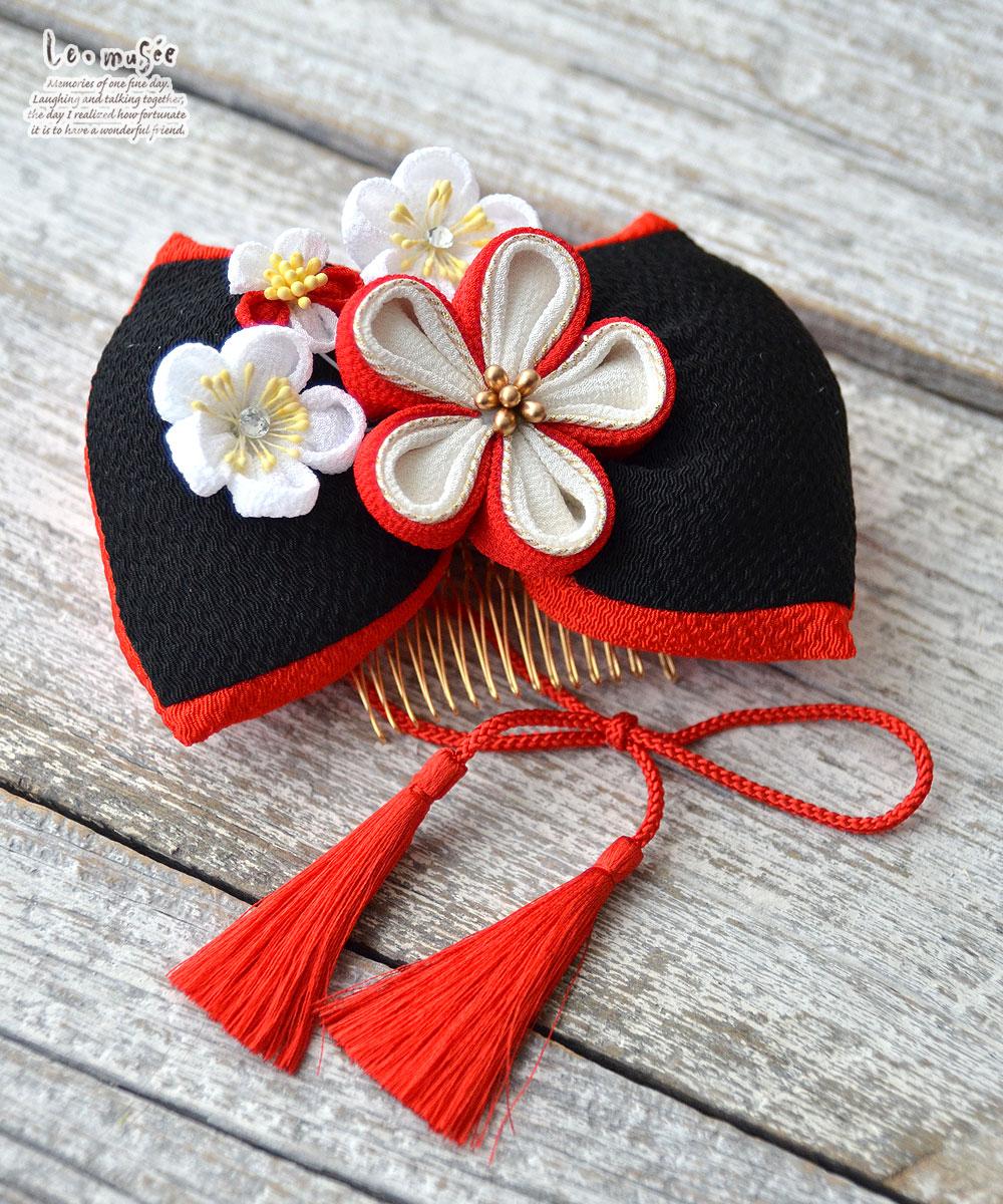 袴 髪飾り リボン  花モダン