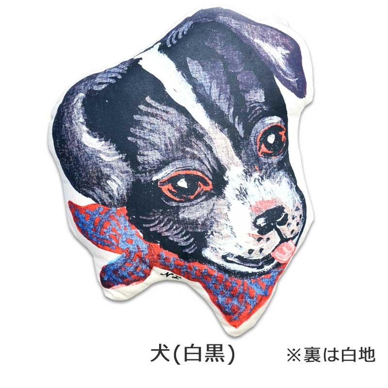 ナタリー・レテ/動物クッション/犬白黒/フランス