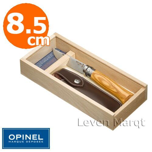 フォルディングナイフNo.8 (オリーブ) ケース&ギフトボックス付 オピネル OPINEL