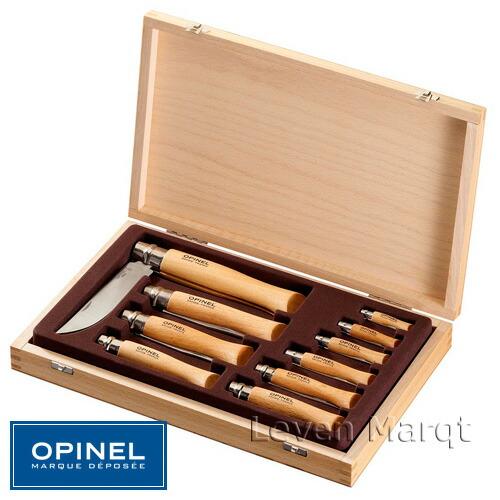 ステンレススチールナイフ10本セット コレクションケース オピネル OPINEL