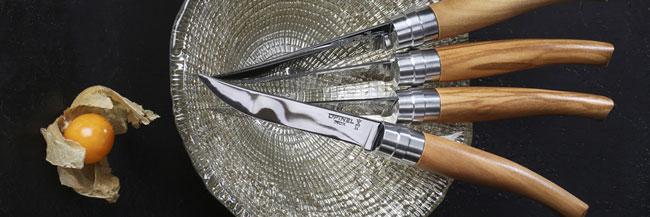 テーブルナイフ オリーブ Olive 4本セット  オピネル OPINEL