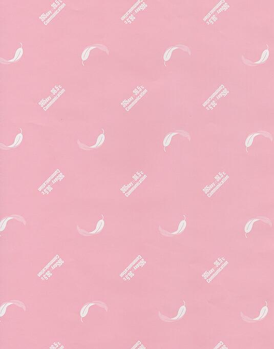 ピンク包装紙