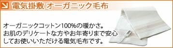 最高品質オーガニックコットン100%使用 ゼンケン オーガニック掛敷電気毛布
