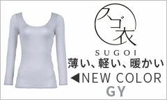 ワコール スゴ衣 快適プラス 薄い、軽い、暖かい(GY)