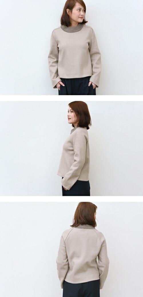 STEPHAN SCHNEIDER(ステファン シュナイダー) 襟ニットプルオーバー【全2色】