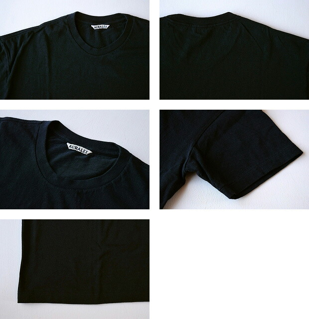 AURALEE(オーラリー )SEAMLESS CREW NECK TEE (MENS) 【全4色】