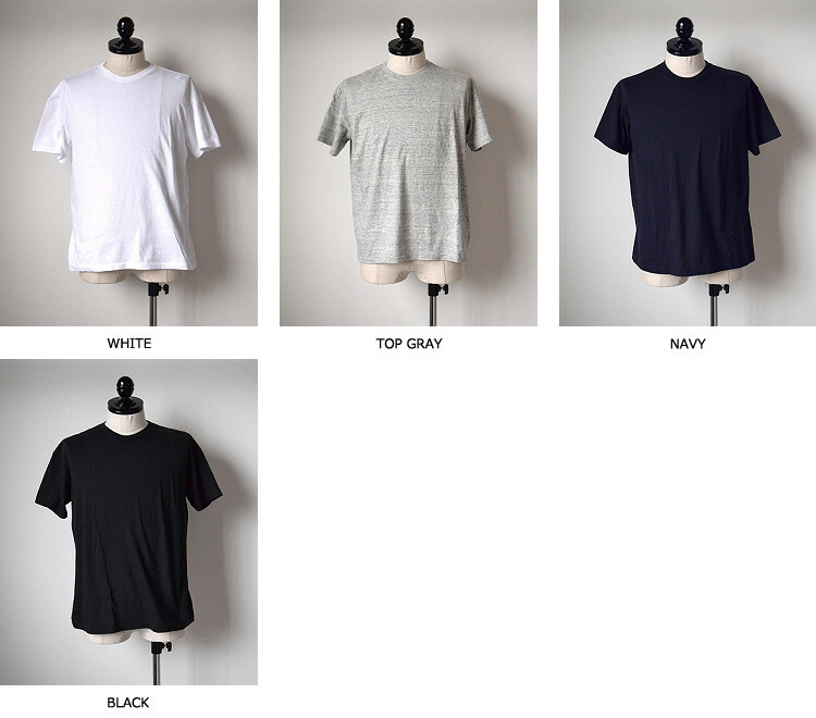 AURALEE(オーラリー ) SEAMLESS CREW NECK TEE (MENS) 【全4色】