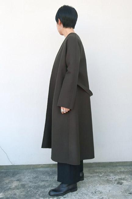 Dessin de mode (デッサン・ド・モード)  リバーウールノーカラーコート【全2色】