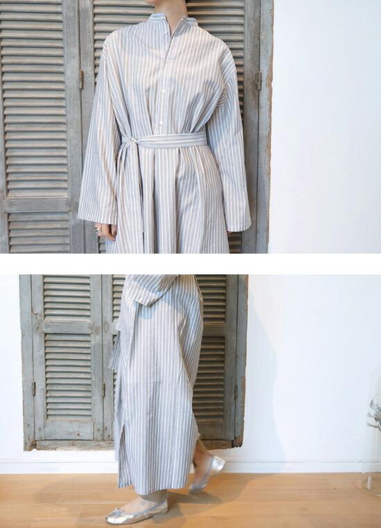 CristaSeya (クリスタセヤ)  STRIPED MAXI SHIRT DRESS