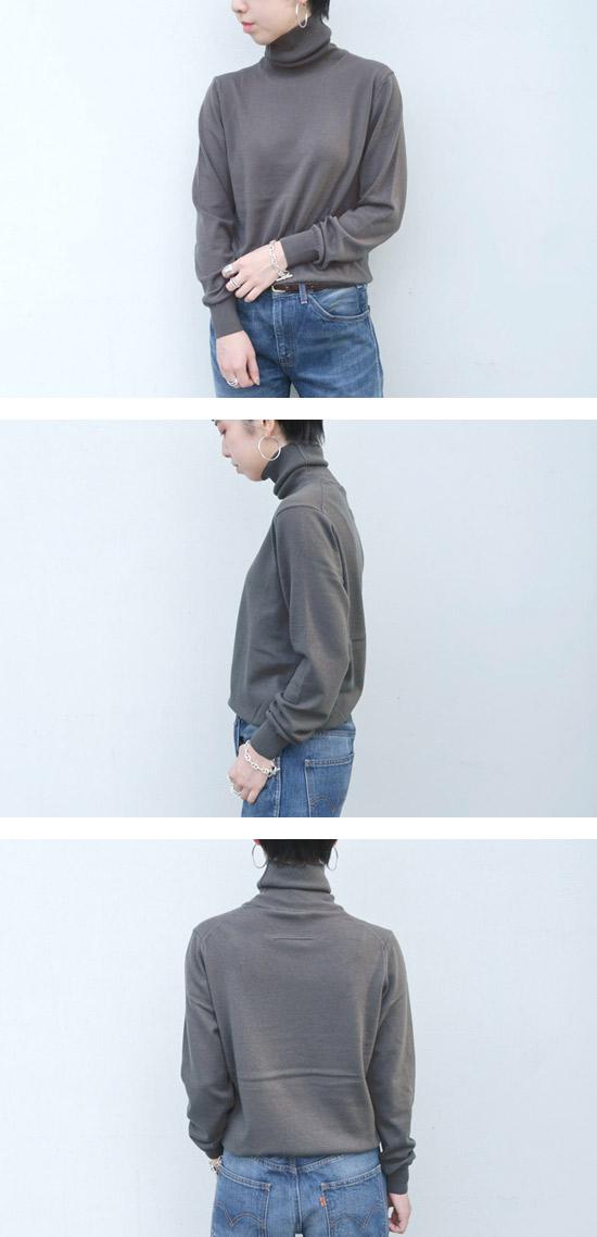 SLOANE(スローン)  14Gカシミヤ天竺タートルネック【全4色】