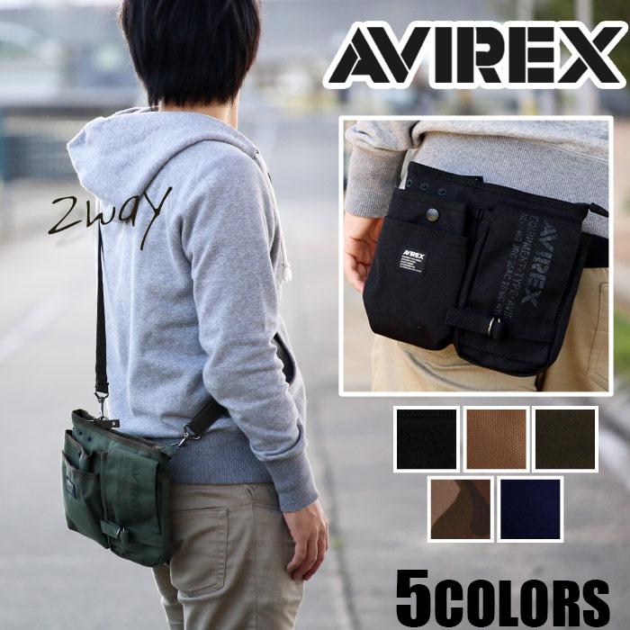 ウエストバッグ AVIREX EAGLE アヴィレックス ショルダーバッグ ヒップバッグ AVX342L