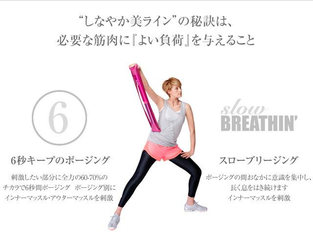 しなやか美ラインの秘訣は、必要な筋肉に『よい負荷』を与えること