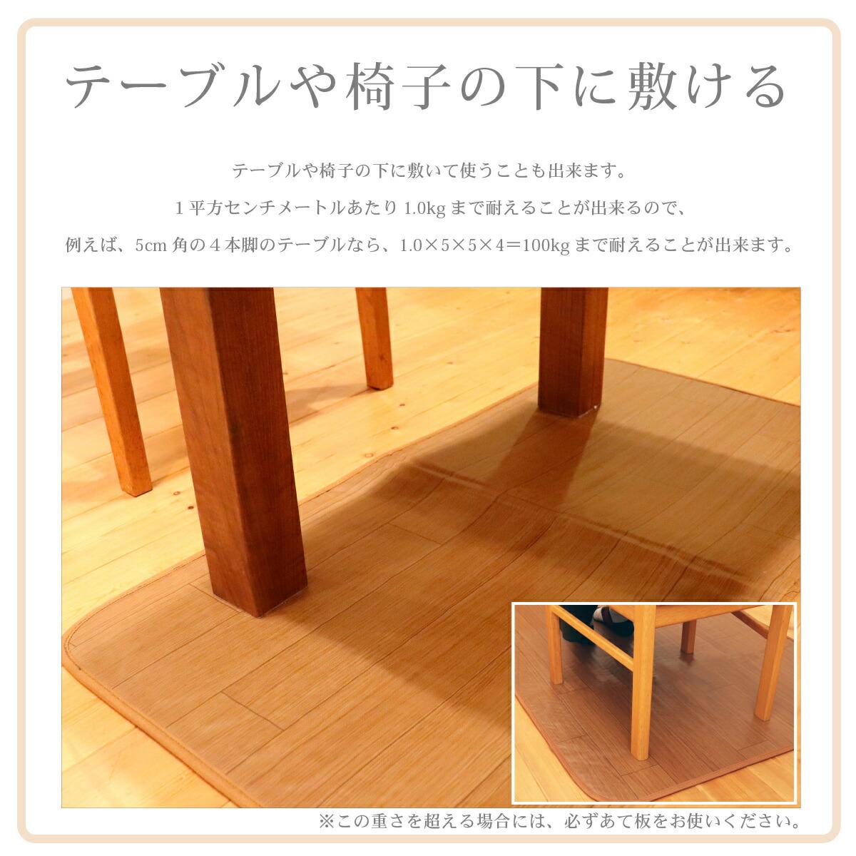 テーブルやいすの下に敷ける