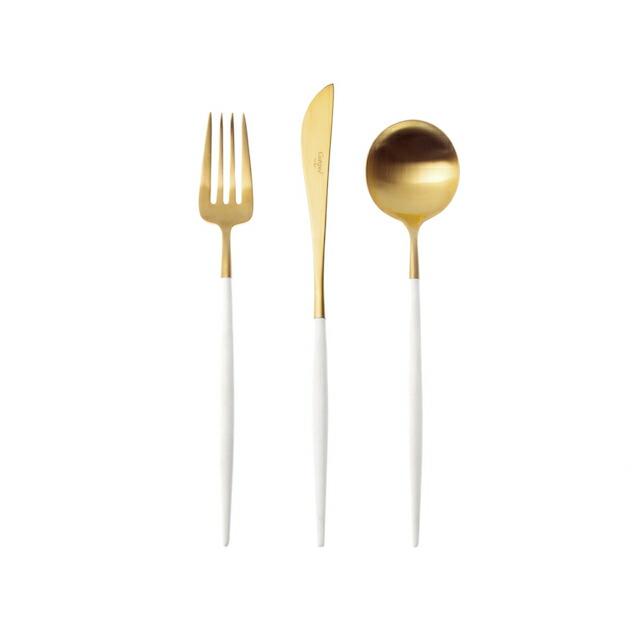 クチポールGOAゴアディナーホワイト&ゴールド